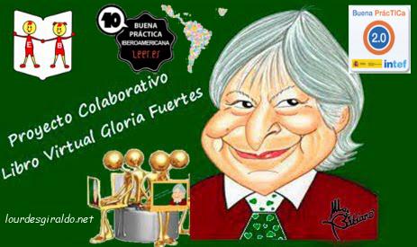 LOS NIÑ@S DE 3 AÑOS C PARTICIPAMOS EN EL PROYECTO COLABORATIVO GLORIA FUERTES.-